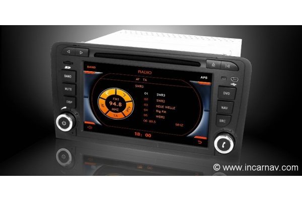 audi a3 series 7 dynavin touch screen lcd multimedia navigation system in car nav official. Black Bedroom Furniture Sets. Home Design Ideas
