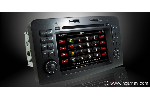 Mercedes benz ml gl class w164 7 dynavin touch screen for How to use mercedes benz navigation system
